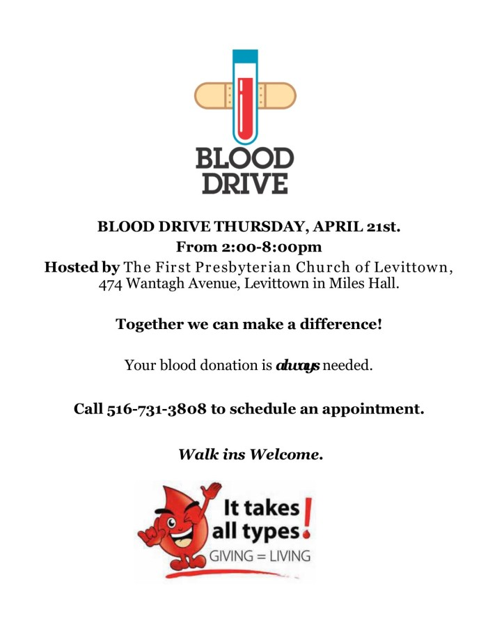 Blood Drive 4-21-16