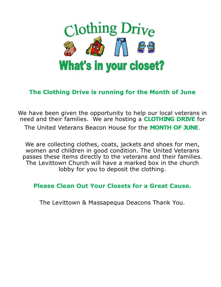 Clothing Drive 6-17