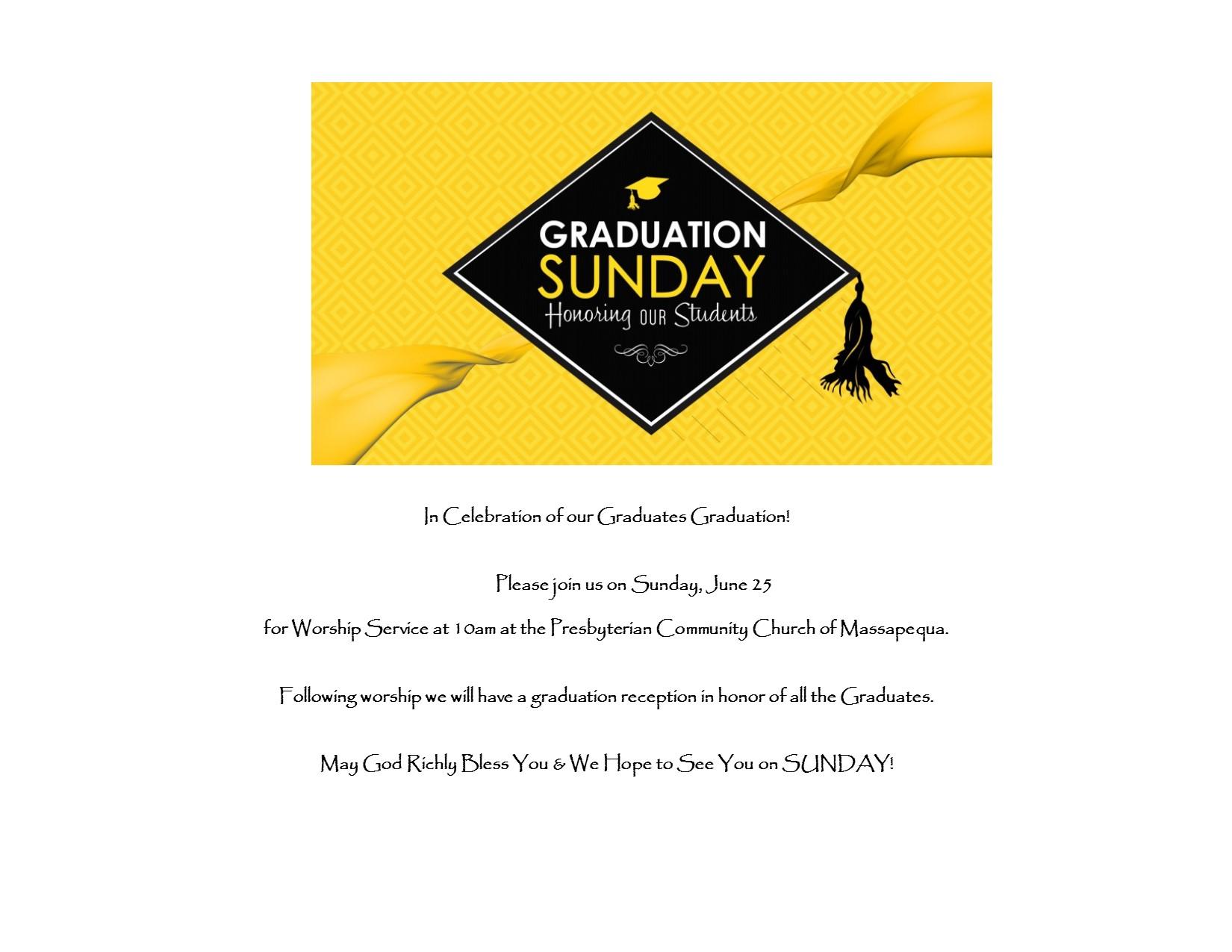 Graduation Sunday