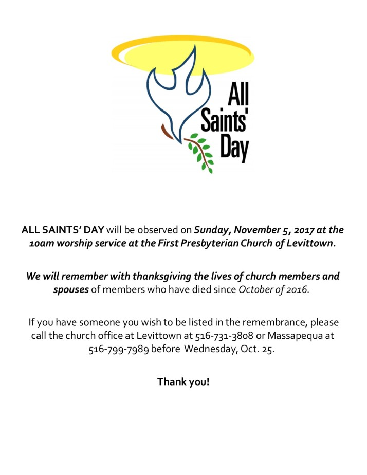 All Saints Day 2017