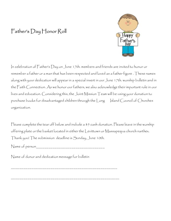 Father's Day Honor Roll