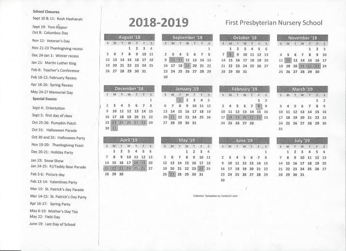 School Calendar 19
